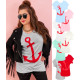N033 Cotton Blouse Plus Size, Anchor Ship
