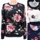 Women's Sweatshirt M- 2XL, Fashion Flowers, 56