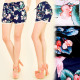 FL490 Summer, Light Shorts, Tassels, Birds Pattern