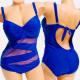 4616 Swimsuit, Plus Size, Bandage Line, up to 56