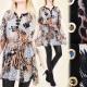 A1910 Effective Tunic, Kimono, Animal Prints