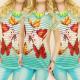 C11207 blusa llamativa, TOP, mariposas, el efecto