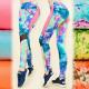 FL488 Leggings de fitness, lleno de colores de ver