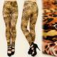 FL145 Leggings Autumn Colors, Leopard Pattern