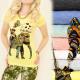 G203 Impresionante Blusa, Top, algodón, Música Fol