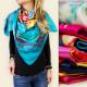 FL111 SATIN headscarf, JUICY COLOUR MIX