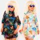 EM93 Airy Womens Dress, Bunte Schmetterlinge
