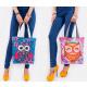 T41 Lovely Ladies Bag, Shopper, Funny Owls