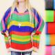 A1904 Rainbow Tunic, Blouse, Loose KIMONO