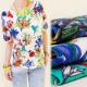 BB15 TOP, blusa, patrones en pájaros y flores MIX
