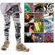 4803 Leggings da ragazza, pantaloni, 90-140, molti