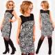 A1012 Elegant Dress, Pencil Line, Roses