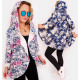 EM67 Cardigan, Sweatshirt Oversize, Floral Pattern