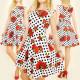 BI382 ROMANTIC DRESS, cloves and dots