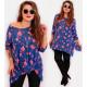 4431 Slimming Tunic Plus Size, Pattern Lilies
