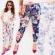 EM90 Pantalons de jogging, Fleurs, Taille Plus