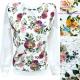Sweat-shirt en coton pour femmes, S-XL, Fleurs R15