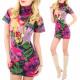 4225 Vonzó ruha, tunika virág, gyapjú