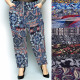 Bambus Damenhose, Sommer M-6XL, Muster,