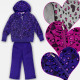 A19176 Sports Tracksuit For Girl, Set,3 Parts 4-12
