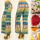 A1935 Cotton Pants, Mega Strap, Boho Style Pattern
