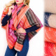 B16596 Winter Shawl XXL, Warm Colors, Warm&Soft