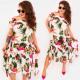 C17699 Frauen Tropic Kleid, Asymmetrisch
