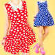 RATED, RETRO DRESS, PATTERN IN A HEART