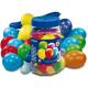 100 ballonnen: cijfers en diverse kleuren tin