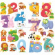 Wall decorations Numbers Animals