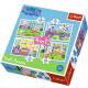 Puzzle 4w1 Świnka Peppa - Wspomnienia z wakacji