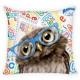 duvet cover on the pillow 40x40 owl