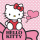 towel 30x30 cotton washcloth Hello Kitty 02