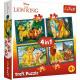 Trefl Puzzle 4W1 e amici DisneyLion King 343