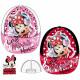 Kinder Kappe Minnie weiß / pink schwarz / rot