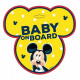 Mickey mouse Baby on board board