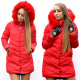 Jacket, coat, flower, hood, red