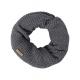 Roadsign Men's loop scarf, anthracite melange,
