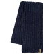 Roadsign Men's scarf Snowmelange, marine, One