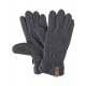 Roadsign Fleece gloves, gray melange / anthracite
