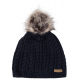 Roadsign Bommel knitted hat, marine, one size