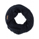Roadsign Knitted scarf loop, marine, one size