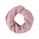 Roadsign Knitted scarf loop, pink, one size