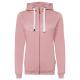 Ladies Basic Sweat Jacket, rose, 2XL