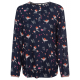 Damen Bluse Lovely Flowers, navy