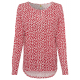 Ladies blouse little heart, offwhite-red