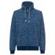 Ladies fleece jacket melange, navy