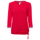 Ladies material mix blouse cherry, red, assorted s