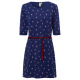 Robe femme Cherry Lady, marine, tailles assorties