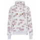 Women's sweatshirt Flowers allover, S, schnee-me